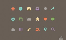 Freebee colourful flat Icons