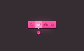 Flat Tooltip Dribbble PSD