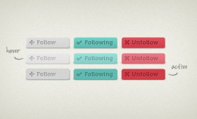 Follow Unfollow Buttons