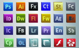 Adobe CS5 Vector Icons PSD