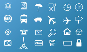 Travel Icons PSD