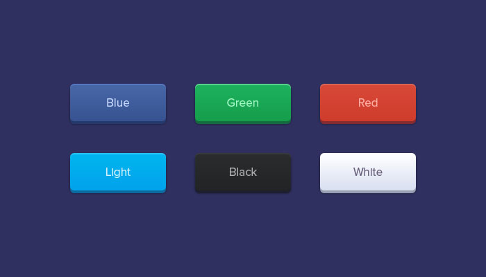 Rounded Buttons PSD