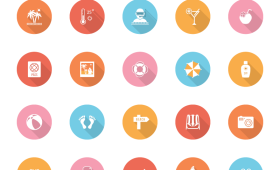 Summer Vector Icons PSD