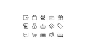 Ecommerce Icons PSD