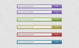 Flat Buttons Submit Forms Psd