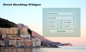 Hotel Booking Widget PSD