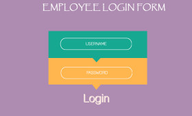 Flat Employee Login Form PSD