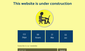 Flat Under Construction Page PSD