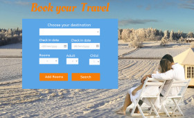 Travel Booking Widget PSD