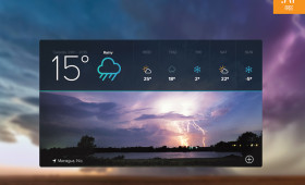 Flat Weather Widget PSD