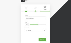 Flat UI Step wise Form PSD