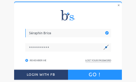 Flat Login form Freebies PSD