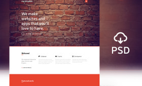Flat My Kingdom one page PSD template