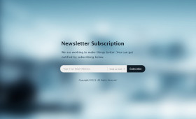 Flat News Letter Subscription PSD