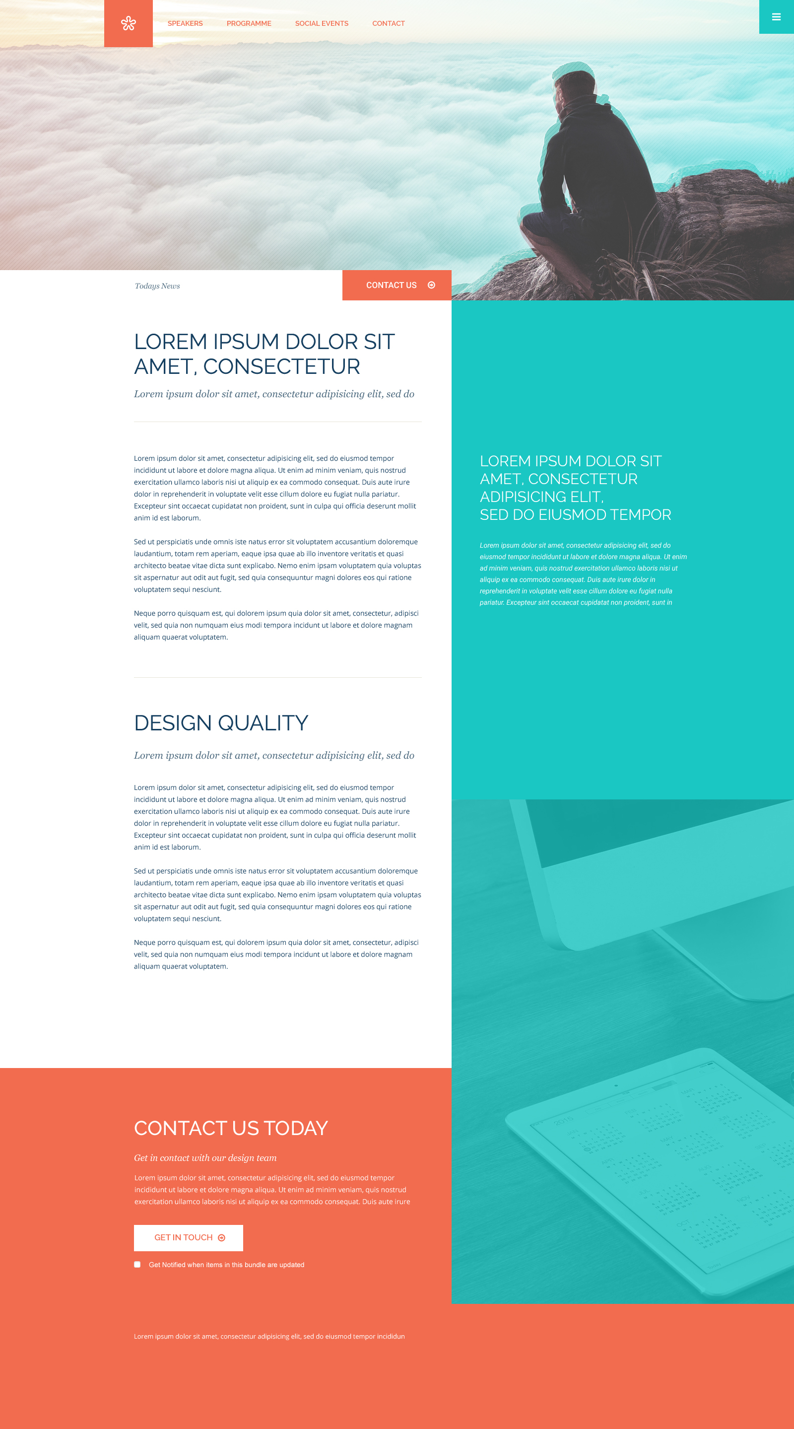 Column Website Template Free PSD