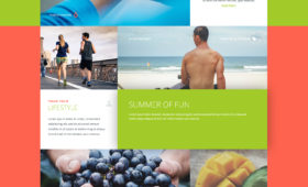 FREE Fitness Website Design Photoshop PSD Template