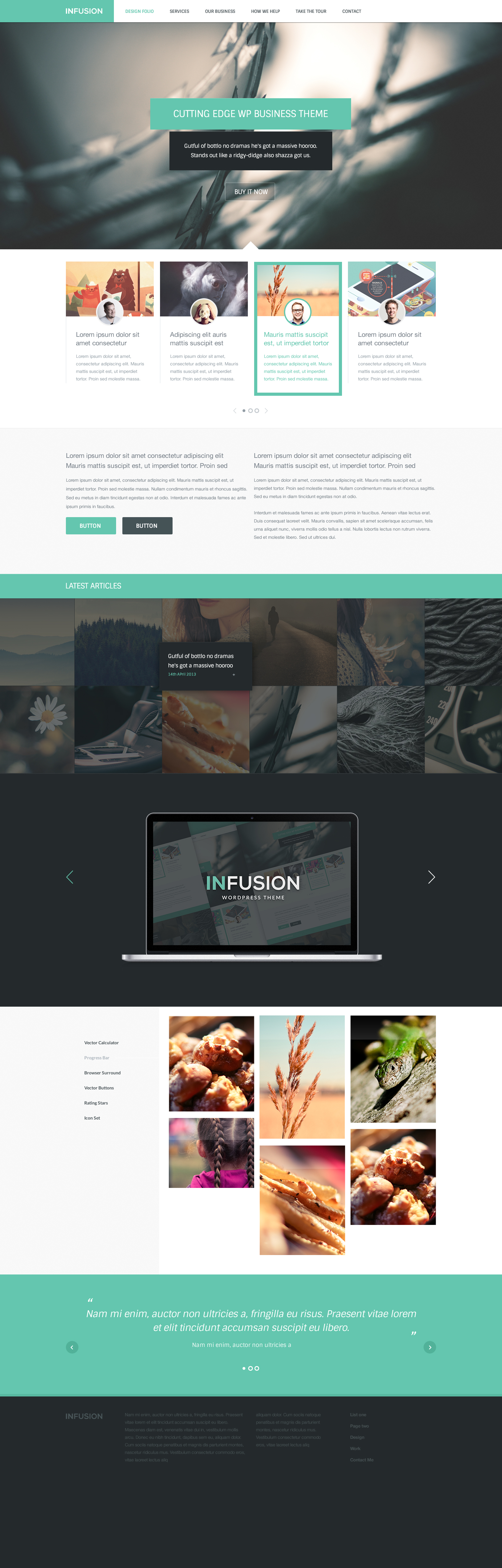Infusion FREE Modern Website Template Photoshop PSD