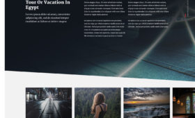 FREE Unique Magazine Look Website Template Photoshop PSD