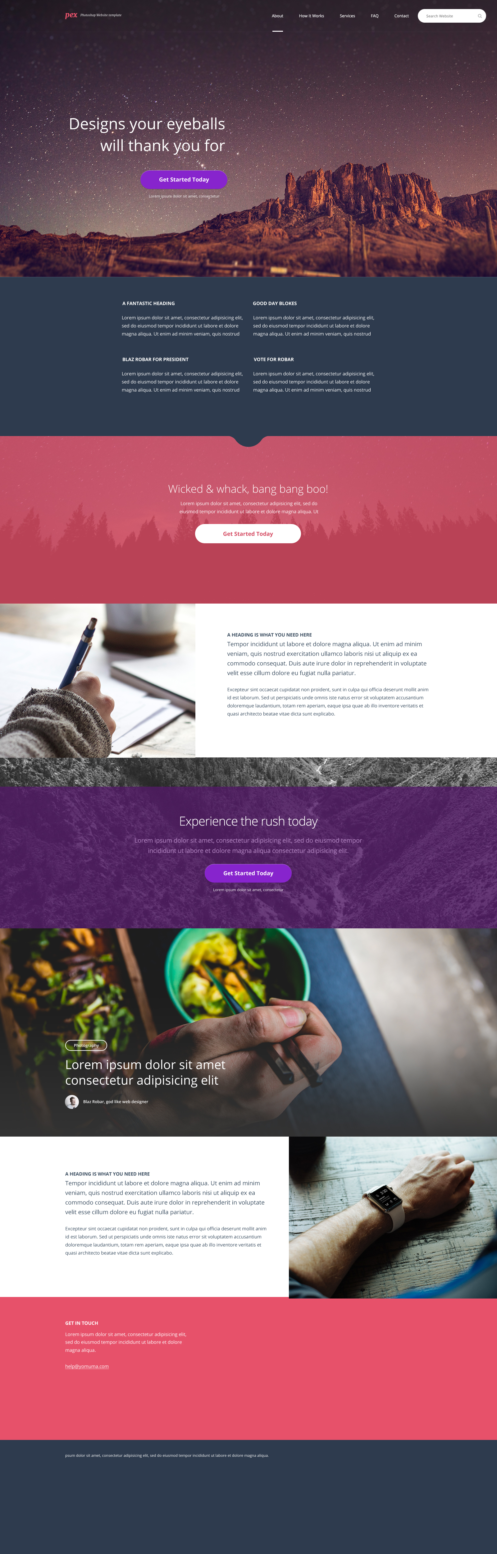 Pex Website Home Page Design FREE Photoshop PSD