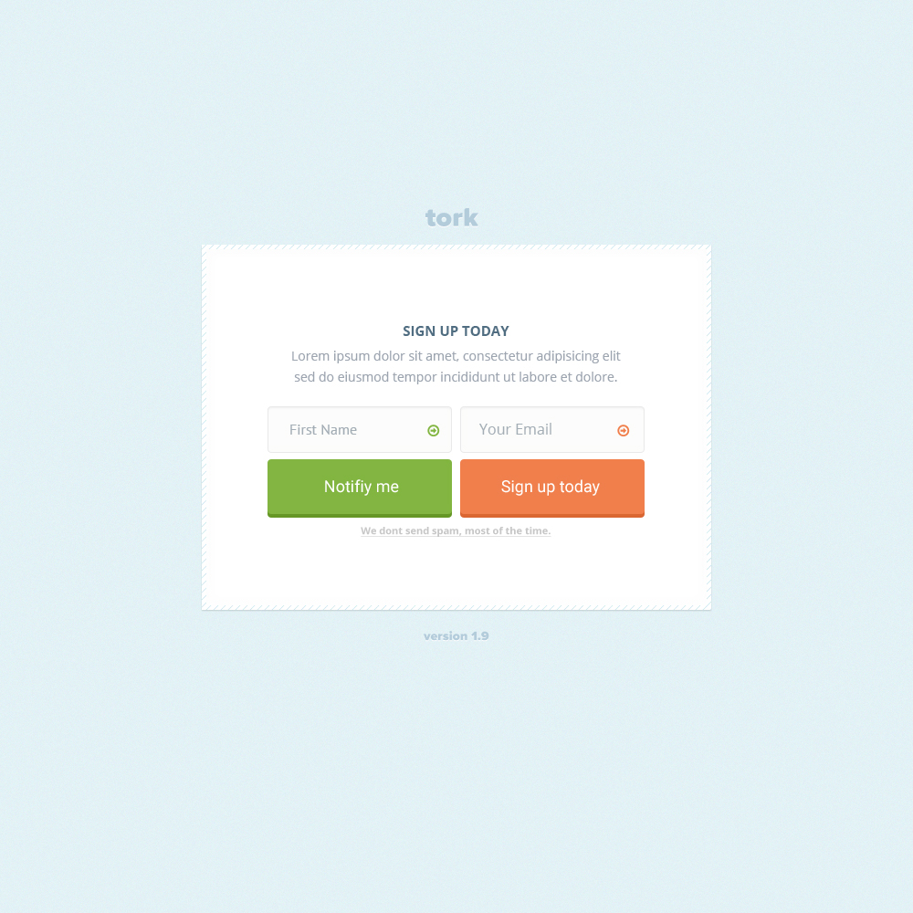 FREE Creative Signup Form Website Element PSD